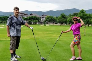 benefiting from some vegan diet weight loss and playing golf